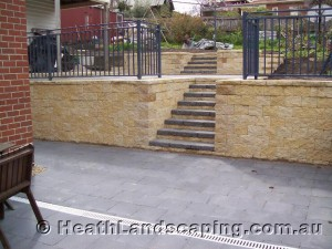 Retaining Wall Under House Heath Landscaping
