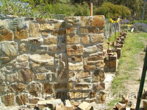 Old Fire Hearth Stone Masonry Constructed by Heath Landscaping Southern Tasmania. Stone Masonry Heath Landscaping