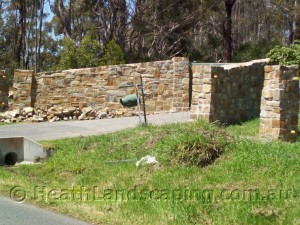 Retaining Wall and Stair Capping Stone Masonry Heath Landscaping