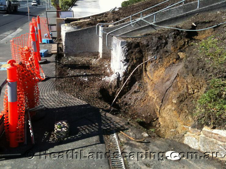 Landscaping Rock Hobart : Landscaping works constructed by heath hobart tasmania