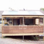 Pergola and Deck Constructed by Heath Landscaping Southern Tasmania.