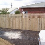 Timber Fence With Gate and Extensions Constructed by Heath Landscaping Southern Tasmania.