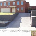 Two Level Retaining Walls Heath Landscaping Tasmania