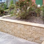 Retaining Wall With Stairs and Paving Constructed by Heath Landscaping Southern Tasmania.