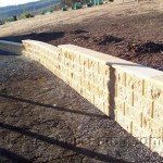 Low Retaining Wall with Stairs Constructed by Heath Landscaping Southern Tasmania.