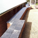 Retaining Wall constructed by Heath Landscaping Hobart Tasmania.