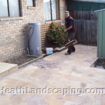 Small Paving Job Heath Landscaping Hobart Tasmania.