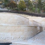 Retaining Wall and Planting by Heath Landscaping Southern Tasmania. Retaining Walls and Paving Heath Landscaping Tasmania. Retaining Walls Heath Landscaping