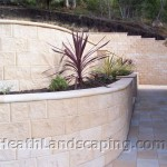 Rosetta Retaining Walls and Paving Heath Landscaping Tasmania.