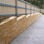 Retaining Wall, Concrete Stairs and Path Constructed by Heath Landscaping Southern Tasmania.