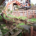 Retaining Wall, Driveway and Stairs Constructed by Heath Landscaping Southern Tasmania