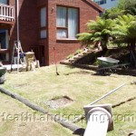 Paving for Pergola Constructed by Heath Landscaping Southern Tasmania.