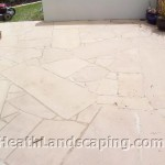 Random Bond Paving Constructed by Heath Landscaping Tasmania.