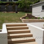 Retaining Wall and Planting by Heath Landscaping Southern Tasmania.