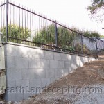 Block Wall With Metal Fence by Heath Landscaping Southern Tasmania